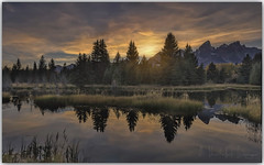 The more reflective you are, the more effective you are! (PhotoArt Images) Tags: usa wyoming grandteton jacksonhole photoartimages sunset reflections lake mountains nikond3 nikon2470 leefilters