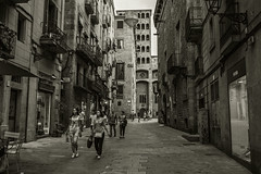 Old Barcelona.... (Dafydd Penguin) Tags: old ancient streets walkways urban town district city barri gothic barcelona cataunya catalonia spain europe explore blackandwhite blackwhite black white monochrome bw raw shots candid freedom independence nikon df nikkor 35mm af f2d