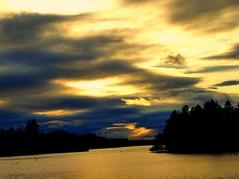 Evening Sky, Forfar Loch (ronramstew) Tags: forfar angus scotland loch nature landscape evening sky clouds