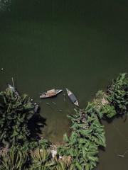 Vietnam - Hoi An river (camilleboldt) Tags: dronification djimavicpro mavicpro vietnamculture river overview landscape boat woodenboats nature vietnamlandscape dronelandscape drone asia vietnam
