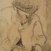 CEZANNE,1872-73 - Cézanne gravant auprès du Docteur Gachet, La Morsure (drawing, dessin, disegno-Louvre RF29925) - Detail 13