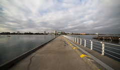 Point of Departure (Keith Midson) Tags: stkilda melbourne pier sky clouds jetty water city samyang 14mm