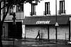 By following the closed doors (pascalcolin1) Tags: paris13 femme woman pluie rain reflets reflection photoderue streetview urbanarte noiretblanc blackandwhite photopascalcolin