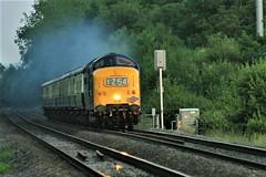 IMG_6632 (steamnut777) Tags: deltic pathfindertours wadboroughcrossing worcester diesel exhaust fast mainline traintour evening
