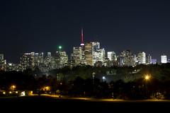 Night Glow (cjb_photography) Tags: canada city cntower donvalleyparkway dvp landscape longexposure night nightlights nightphotography ontario photography riverdalepark skyline torontoon