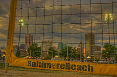 2017-09-15 BBV Coed Doubles (116) (cmfgu) Tags: craigfildespixelscom craigfildesfineartamericacom baltimore beach volleyball bbv md maryland innerharbor rashfield sand sports court net ball outdoor league athlete athletics sweat tan game match people play player doubles twos 2s coed sunset colorful sky clouds twilight dusk