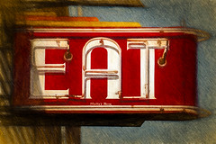 Wally's Neon (Explore 10-14-17) (David DeCamp) Tags: oldfashioned architecture retro vintage red old facade antique restaurant