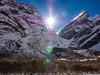 Sunrise at ABC, Nepal (CamelKW) Tags: abc annapurnabasecamptrek annapurnaregiontrek kathmandu mbc machapuchare machapucharebasecamp nepal pokhara sunrise