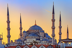 Sunset on the Blue Mosque (patrickburtin) Tags: