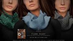 NEW at Collabor88! Fiore Scarf - Just BECAUSE (Just BECAUSE_SL) Tags: c88 collabor88 jb just because sl secondlife sweater shirt top peplum flair fall autumn winter infinity scarf crocheted knitted sexy belleza slink maitreya mesh original hud