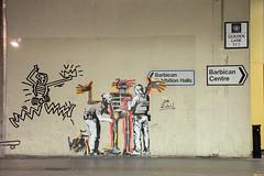 Around London - Banksy at the Barbican (jimj0will) Tags: barbican banksie banksy art graffiti