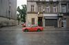 Wrocław, Poland. (wojszyca) Tags: contax g2 zeiss biogon 21mm kodak vision3 50d c41 car auto carspotting urban decay city red soloparking