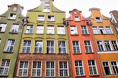 The facades of Gdańsk, Poland (jackfre 2 (sick)) Tags: gdansk danzig city poland wealthy architecture hanseaticcity colourful building facades decoration sign windows
