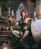 After the flood (Mark Frost :)) Tags: fantasy wolf daz studio 49 render 3d cgi photomanipulation photoshop dark dream woman girl female skin armor armour red hair temple ruin water liquid sea mist fog stone
