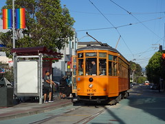 201709139 San Francisco tram (taigatrommelchen) Tags: 20170938 usa ca california sanfrancisco castro icon urban city railway railroad mass transit tram train muni street