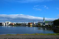 Tjornin Reykjavik Iceland. (Eddie Crutchley) Tags: cruise2017norwayicelandireland europe iceland reykjavik outdoor beauty blueskies sunlight tjornin lake greatphotographers