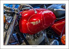 Birmingham Small Arms (BSA) (G. Postlethwaite esq.) Tags: bsa britishsmallarms canon40d canonefs60mmmacro dof nationalmotorcyclemuseum beyondbokeh bokeh depthoffield motorcyle photoborder potroltank primelens red selectivefocus