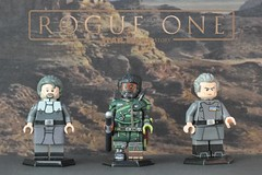 LEGO Rogue One: Saw Gerrera, Galen Erso, & Tarkin - Custom Painted Minifigures (Brick Builder Watts) Tags: lego rogue one a star wars story saw gerrera forest whitaker galen erso mads mikkelsen grand moff tarkin peter cushing custom painted minifigures