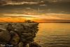 tramonti nel nord est (paolotrapella) Tags: sunset tramonto diga crepuscolo rocce rocks trabucchi orizzonte cielo sky clouds nuvole mare chioggia sottomarina landscape coast beach color sand