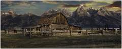 Silence is the fence around wisdom (HFF) (PhotoArt Images) Tags: hff fencedfriday photoartimages usa wyoming grandteton jacksonhole mountains barn mormonrow