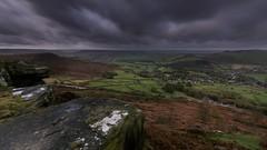 Storm Brian - Over Curbar Edge (gavsidey) Tags: derbyshire curbar edge clouds storm brian ngc d7100 rocks valley derwent fields