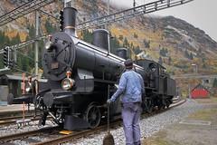 Göschenen - SBB B3/4 Steam Engine 1367 (Kecko) Tags: 2017 kecko switzerland swiss schweiz suisse svizzera innerschweiz zentralschweiz uri gotthard göschenen bahnhof station bahn eisenbahn railway railroad bergstrecke steam train dampfzug locomotive dampflokomotive b34 mogul 1367 swissphoto geotagged geo:lat=46664770 geo:lon=8588560