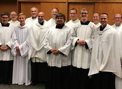 Erie seminarians serve Faith Formation Day Mass at Beloved Disciple, Grove City - Oct. 20, 2017.