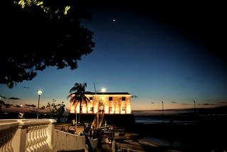 Pôr do sol com lua nova 《 》 Sunset with New Moon