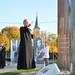 A helyi hősök tetteire emlékeztető büszkeségpont avatása a Pest megyei Rádon