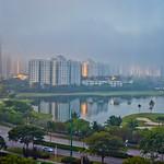 Morning mist over the city thumbnail