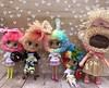 My awesome yarnheads.....tiny but totally cute! (A Little Fairy Magic/Leezapea1) Tags: yarnheads drblythenstein petiteblythes strawberryshortcake