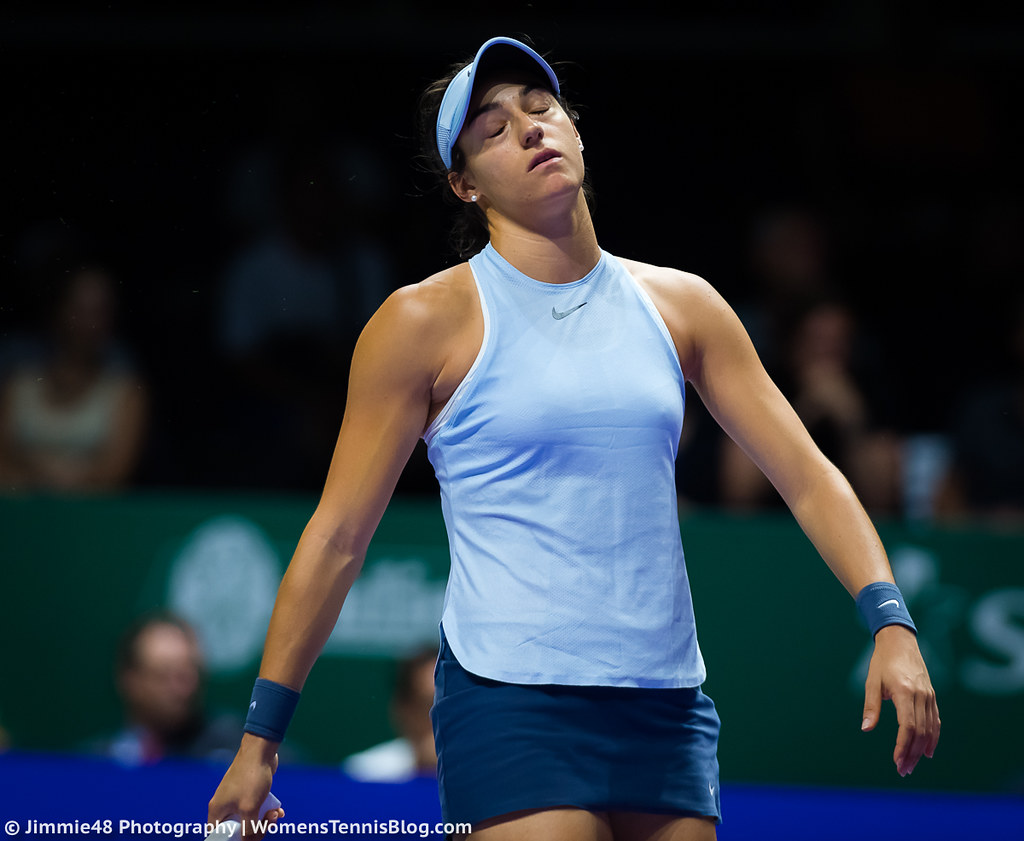 Wta Finals Photos Wozniacki Vs Garcia, Svitolina Vs -6812
