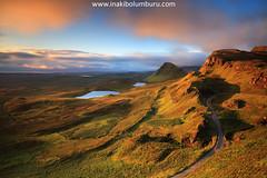 THE QUIRAING (Obikani) Tags: quiraing skye scotland island cloud sunrise lake mountain light landscape marvellous amazing color warm