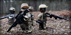 Ukraine, eastern border, US Marine Recon units wait for their contact (Brick Police) Tags: lego ukraine military usmc marines recon