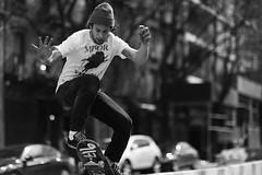 Minor Threat  Manhattan Skater. (Stefano-Bosso) Tags: manhattan skate minirthreat love stefano bosso bw bnw blackwhite canon network 2016 blackandwhite noiretblanc blackandwhitephotos streetphotography