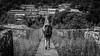Bridge (#Weybridge Photographer) Tags: canon slr dslr eos 5d mk ii nepal kathmandu asia mkii everest trek himalaya himalayas trekker girl rucksack backpack bridge metal suspension trekking