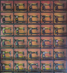Sewing Machines (lgflickr1) Tags: sewing machines lowlight street old antique pattern square abstract thirty 30 squares vietnam singer rows