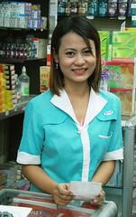 pretty sales representative (the foreign photographer - ฝรั่งถ่) Tags: pretty young woman sales representative store shop sapan mai bangkhen bangkok thailand canon