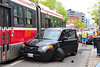"""Totalled"" (Canadian Pacific) Tags: car auto automobile ttc streetcar tram crash queenstreet east broadview avenue 20170522 2017 may 22 honda hyundai 2017aimg8990 toronto ontario canada canadian accident road"