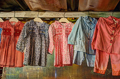 outdoor market (albyn.davis) Tags: colors red pink clothes clothing market simple paris