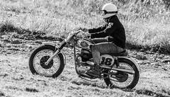 Classic BSA (John Kocijanski) Tags: hss blackandwhite bsa motorcycle dirtbike hillclimb canon70300mmllens canon7d vehicle race sport people