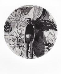 mural meets Eliot (buttercup caren) Tags: polaroid impossibleproject blackandwhite filmphotography eliot graffiti mural filmisnotdead boy slr680 streetphotography urban