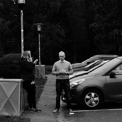 Mis-conversation (Alleen ☉) Tags: steet angry candid telephone addict car sweden scandinavia photo art eye contact impression expression street