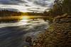 AleXBooK _2117 (AleX.D - SuShY**) Tags: france blending coucher de soleil eau fleuve landscape paysage river rivière rocher rock sunset water lac ciel auvergne canon canon7d 7d 1755
