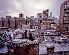 City Canvas 2017 (Raphe Evanoff) Tags: nyc manhattan urban landscape graffiti art film mamiya sky skyscraper ngc