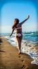 Good bye summer (Víctor Rodríguez García) Tags: goodbye good bye summer model girl st beach water sun sand walk back blue sky hot light