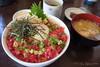 CAFE HUSTLE JET (GenJapan1986) Tags: 2017 cafehustlejet 仙台市 宮城県 海鮮丼 miyagi 日本 japan fujifilmx70 food