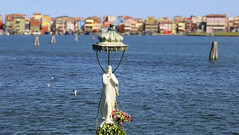 Blessing of the Madonna of the Fishermen for a safe return (B℮n) Tags: chioggia veneto lagoon island cathedrale fishmarket harbor fishing port pace life italië italia italy ronams clodia seafood panorama panoramico boat ships tour locals canals boats unspoiled bridgde town colors tourism vacation holiday summer architecture historic authentic canal vena bridge historical ponte vigo marble 1685 eight bridges madonna virign mary maagd maria fishermen 50faves topf50