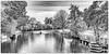 ships on the river Hamme (MAICN) Tags: vhs landscape landschaft wasser herbst mono fluss wald sw autum clouds water schiff bw 2017 blackwhite kanu river worpswede schwarzweis tree baum ship einfarbig monochrome wolken canoe