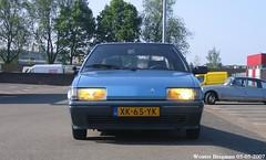 My ex Citroën BX 14 (1989) (XBXG) Tags: xk65yk citroën bx 14 1989 citroënbx blue bleu olympe emd emdcr citromobile 2007 citro mobile veemarkt utrecht nederland holland netherlands paysbas vintage old classic french car auto automobile voiture ancienne française vehicle outdoor